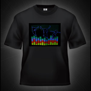 LED Sound Activated T-Shirt - Dancers