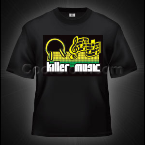 LED Sound Activated T-Shirt - Killer Music