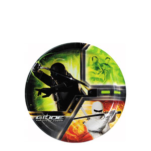 GI Joe 7 Inch Plates- 8ct