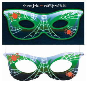 Wearable Masquerade Invitation- 8ct