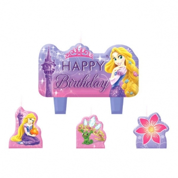Disney Rapunzel Birthday Cake Candle Set