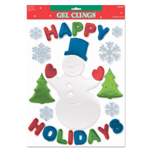 Happy Holidays Large Gel Clings- 26ct