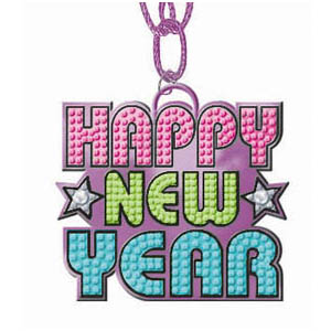 Happy New Year Bling- Multicolor 36 Inch