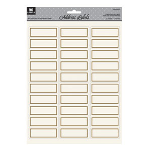 Gold Printable Address Labels - 90ct