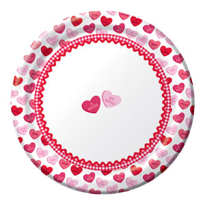 Sweet Greetings 9 Inch Plates
