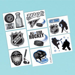 NHL Tattoo Favors- 16ct