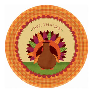 Give Thanks 10 Inch Plates- 18ct