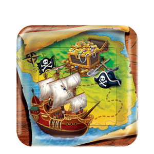 Buried Treasure 7 Inch Plates- 8ct