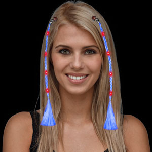 LED Braided Hair Extensions - Blue
