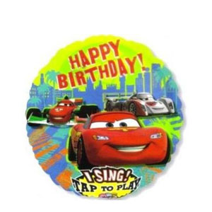Cars Group Birthday Singing Balloon- 28 Inch