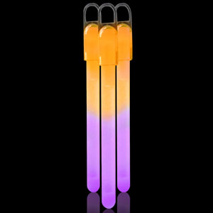6 Inch Standard Glow Sticks - Purple-Orange