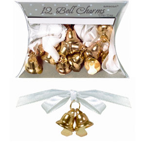 Double Bell Charms - Gold 12ct