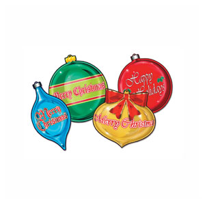 Christmas Ornament Cutouts - 4ct