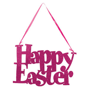 Happy Easter Glitter Sign
