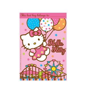 Hello Kitty Balloon Dreams Folded Loot Bags- 8ct