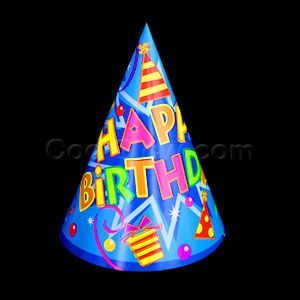 Happy Birthday Party Cone Hat