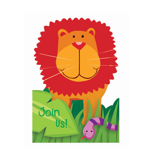 Jungle Animals Invitations- 8ct