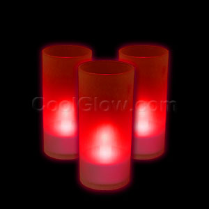 LED Pillar Candle - Red