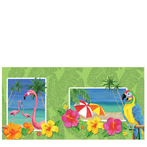 Tropical Plastic Tablecover