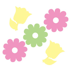 Felt Confetti Flowers - Assorted