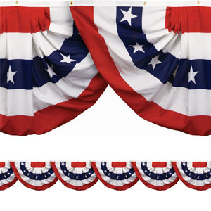 Patriotic Bunting Border Roll - 40ft
