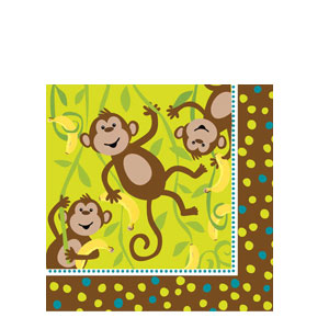 Monkeyin' Around Luncheon Napkins- 16ct