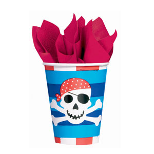 Pirate's Treasure 9 oz. Cups - 8ct