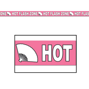 Hot Flash Zone Party Tape - 20ft