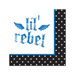 Little Rebel Beverage Napkins - 16ct