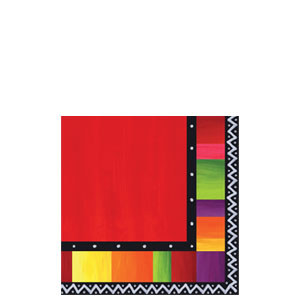 Fiesta Stripes Beverage Napkins- 16ct