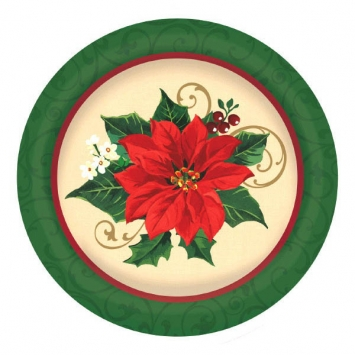 Poinsettia Large Plate