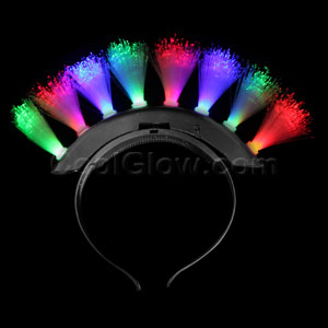 Fun Central Q95 LED Light Up Fiber Optic Mohawk