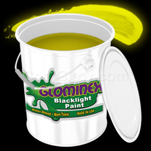 Glominex Blacklight UV Reactive Paint Gallon - Yellow