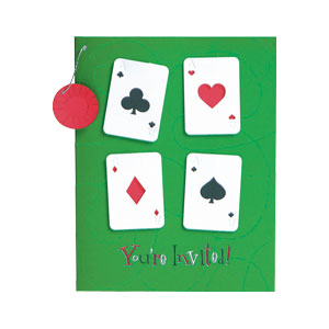 Card Party Dangling Invitation- 8ct