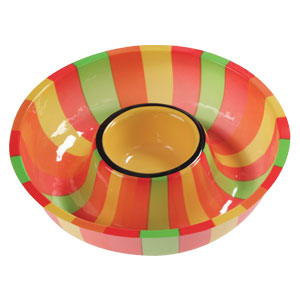 Fiesta Stripes Chips  Dip Tray