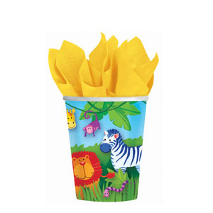Jungle Animals 9 oz. Cups- 8ct