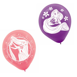 Disney Tangled Printed Latex Balloons- 6ct