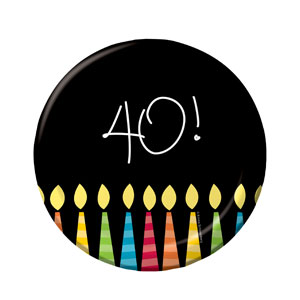 40 Candles Luncheon Plates - 8ct