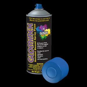 Glominex Glow Spray Paint 4oz - Blue