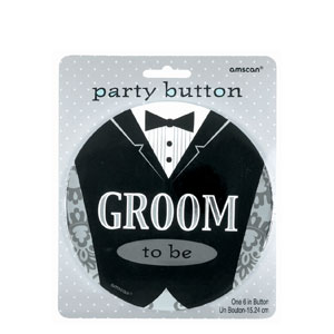 Groom Jumbo Button- 6in