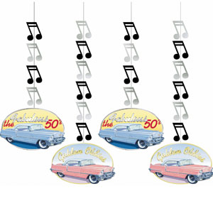Rock and Roll Dangling Cutouts- 12in