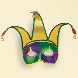 Jester Mask with Bells