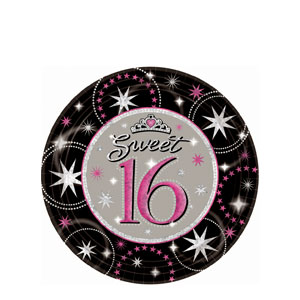 Sweet Sparkle 7 Inch Plates- 8ct