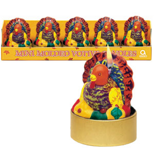 Mini Molded Turkey Candles- 5ct