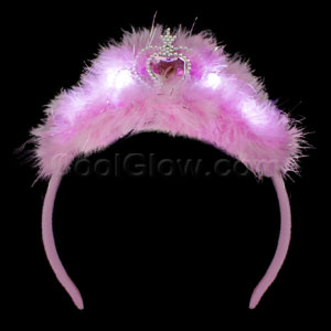 LED Feather Tiara Headband