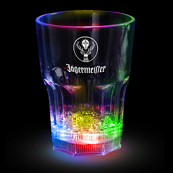 LED 12oz Flashing Rocks Glass - Multicolor