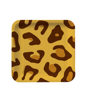 Leopard Print 7 Inch Plates- 8ct