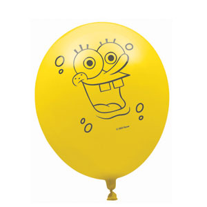 SpongeBob Latex Balloons- 6ct