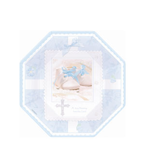 Tiny Blessing Blue Octagonal 7 Inch Plates- 8ct