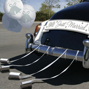 Deluxe Wedding Car Decoration Kit - 15pc